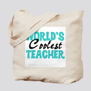 World's Coolest Teacher Tote Bag
