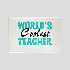 World's Coolest Teacher Rectangle Magnet