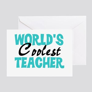 World's Coolest Teacher Greeting Card