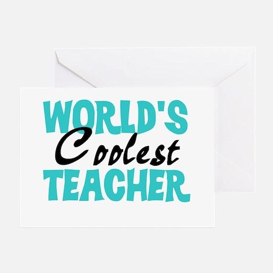World's Coolest Teacher Greeting Card