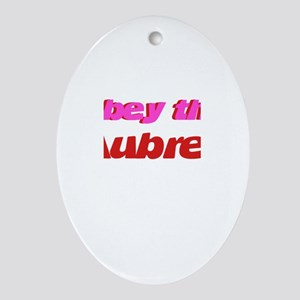 Obey the Aubrey Oval Ornament