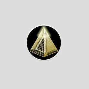 All Seeing Eye Pyramid Mini Button