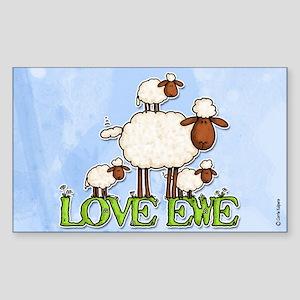 love ewe Rectangle Sticker