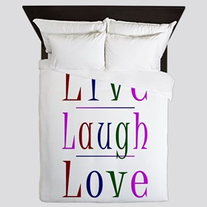 Live Laugh Love Queen Duvet