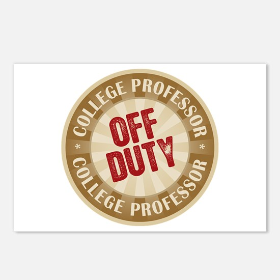 Off Duty College Professor Postcards (Package of 8
