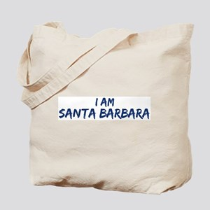 I am Santa Barbara Tote Bag
