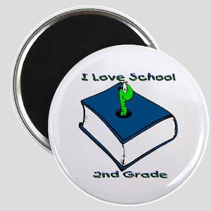 Bookworm 2nd Grade Magnet