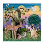 St Francis/Shar Pei #5 Tile Coaster