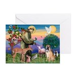 St Francis/Shar Pei #5 Greeting Cards (Pk of 20)