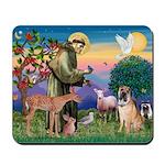 St Francis/Shar Pei #5 Mousepad