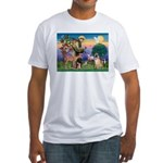 St Francis/Shar Pei #5 Fitted T-Shirt