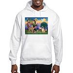 St Francis/Shar Pei #5 Hooded Sweatshirt