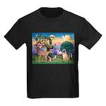 St Francis/Shar Pei #5 Kids Dark T-Shirt