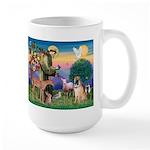 St Francis/Shar Pei #5 Large Mug