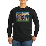 St Francis/Shar Pei #5 Long Sleeve Dark T-Shirt