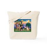 St Francis/Shar Pei #5 Tote Bag