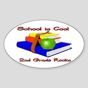 School's Cool 2nd Grade Rocks Oval Sticker
