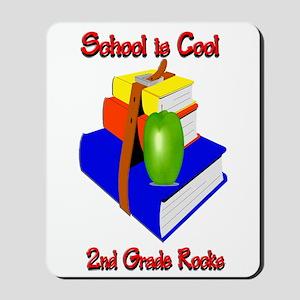 School's Cool 2nd Grade Rocks Mousepad