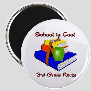 School's Cool 2nd Grade Rocks Magnet