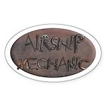 Airship Mechanic Oval Sticker (10 pk)