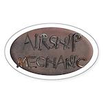 Airship Mechanic Oval Sticker
