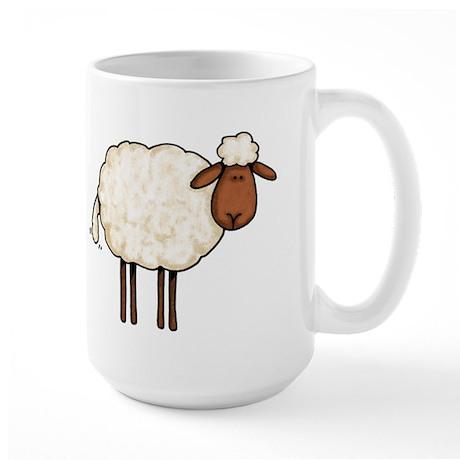 white sheep Large Mug