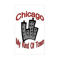 Chicago: My Kind Of Town Rectangle Decal