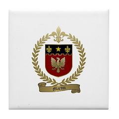 MARTIN Family Crest Tile Coaster