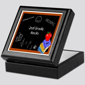Chalk Board 2nd Grade Keepsake Box