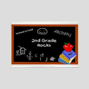 Chalk Board 2nd Grade Rectangle Magnet