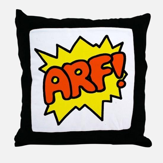 'Arf!' Throw Pillow