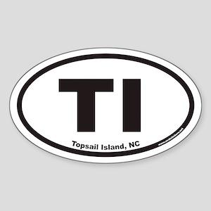 Topsail Island TI Euro Oval Sticker