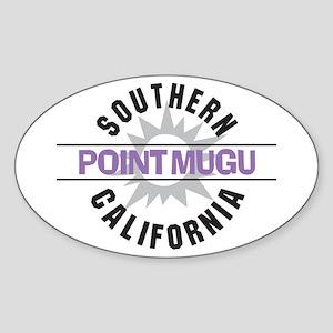 Point Mugu California Oval Sticker