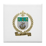 MICHAUD Family Crest Tile Coaster