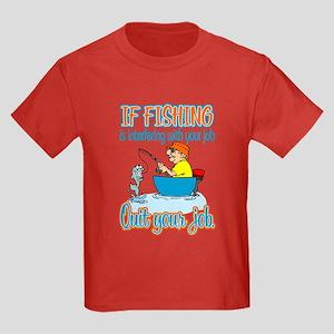 Interfering Fish Kids Dark T-Shirt