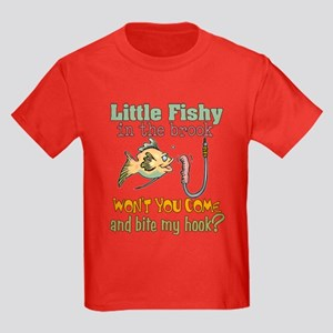 Little Fishy in the Brook Kids Dark T-Shirt