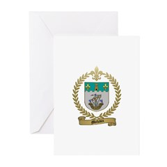 MICHAUX Family Crest Greeting Cards (Pk of 10)