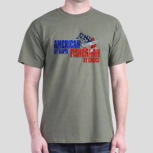 American by Birth - Fisherman by Choi Dark T-Shirt