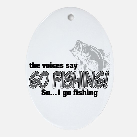 The Voices Say... Oval Ornament