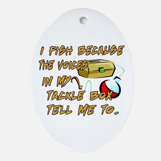 Tackle Box Voices Oval Ornament