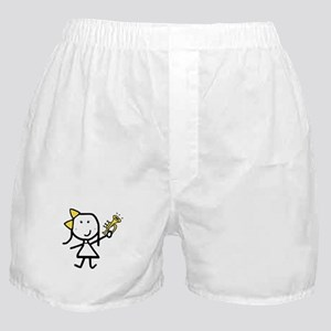 Girl & Trumpet Boxer Shorts
