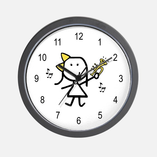 Girl & Trumpet Wall Clock
