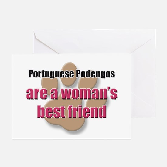Portuguese Podengos woman's best friend Greeting C