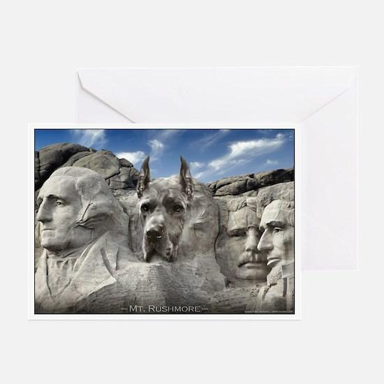 Mt. Rushmore Great Dane Greeting Cards (Pk of 10)