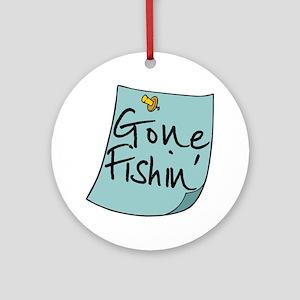 Gone Fishin' Note Ornament (Round)