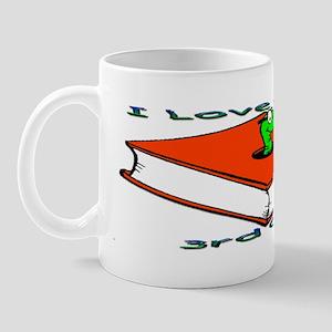 Bookworm 3rd Grade Mug