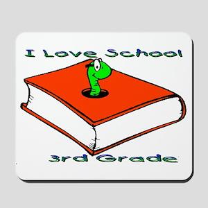 Bookworm 3rd Grade Mousepad