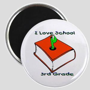 Bookworm 3rd Grade Magnet