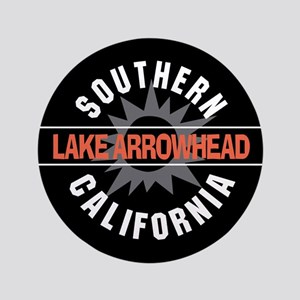 "Lake Arrowhead California 3.5"" Button"