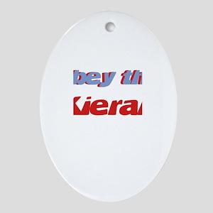 Obey the Kieran Oval Ornament
